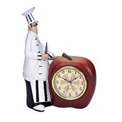 Plutus Brands Polystone Chef Wall Clock with Attractive Colors