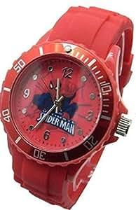 Marvel Spider-Man reloj para la juventud. Gran Dial de analógico. Correa de