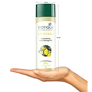 Biotique Bio Citron Stimulating Body Massage Oil, 200ml