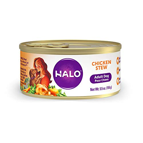 Halo Natural Wet Dog Food, Chicken Recipe, 5oz Can (Pack of 12)