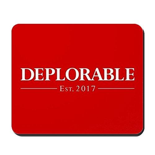 CafePress Deplorable Est 2017 Non-Slip Rubber Mousepad, Gaming Mouse Pad ()
