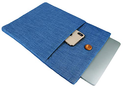 Denim Youth 14-15.4 Inch Laptop Sleeve - ABRONDA [College Style] Handbag Cover for 15-15.4 Inch MacBook Pro A1286 A1398 A1707 A1990 and 14