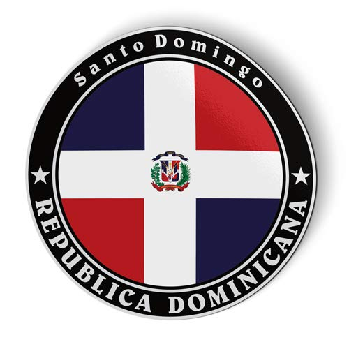 Dominican Republic Flag - Flexible Magnet - Car Fridge Locker - 5