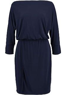 df1cc9d4be9124 KIOMI Freizeitkleid aus Jersey - Kleid Damen kurz - Minikleid elegant -  Damenkleid mit U Boot