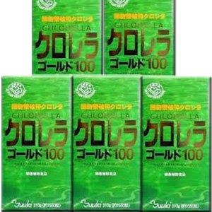 【5個】ユウキ製薬 クロレラゴールド100 1550粒x5個セット(4524326200464) B014S898GG