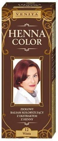 Henna Color 12 Cerezo Cherry Bálsamo Capilar Tinte Para Cabello Efecto De Color Tinte De Pelo Natural Gallina Eco