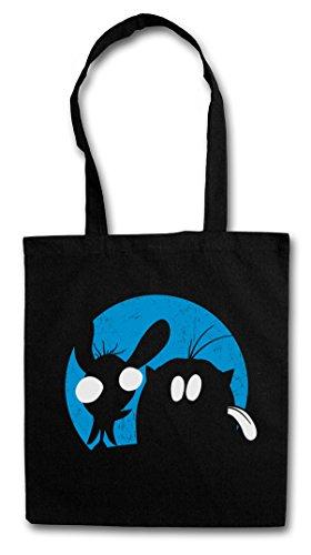 """REN """"J"""" Hipster Shopping Cotton Bag Borse riutilizzabili per la spesa – et Show Stimpy & and"""