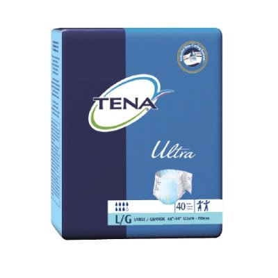 TENA Ultra Brief, Large, Tab Closure, Adult Disposable, Heavy Absorbency, 67300 - Case of 80