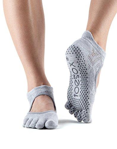 Toesox–Calcetines agarre completo Bellarina Toe calcetines, calcetines de baile y se puede utilizar para barre, Yoga, Pilates, Fitness Antideslizantes Calcetines–1par Diamond Willow