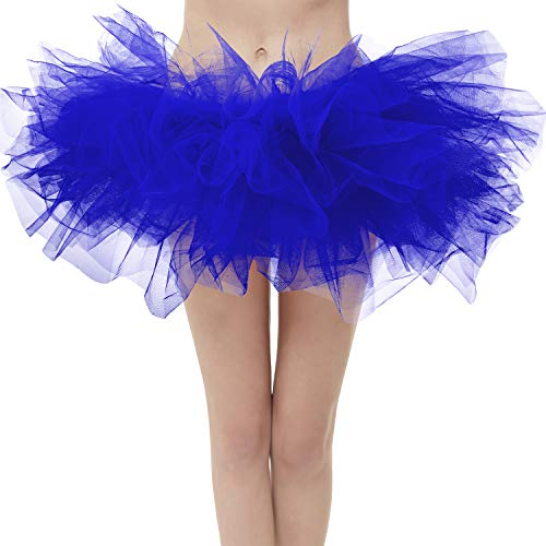 Topdress Layered Tulle Tutu Skirts Royal Blue Regular Sizing -