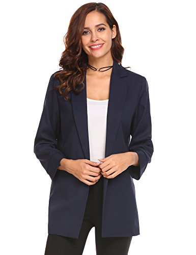 - Easther Women's Long Sleeve Open Front Casual Work Office Blazer Jacket