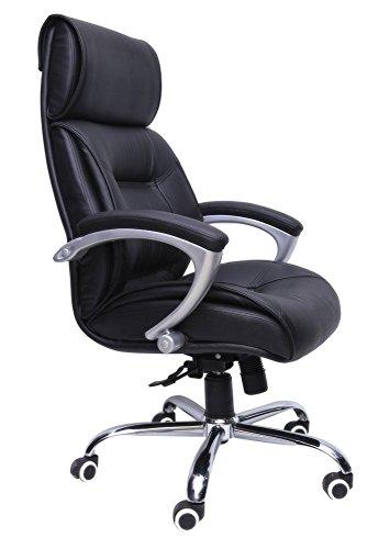 Mavi High Back Leatherette Office Chair Black  DHB 201