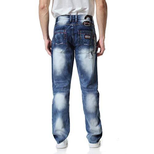 Colour Buco Uomo Sfumatura Ragazzi Patch Lunghi Strappati Hip Stile Moda Jeans hop Colorazione Uomini Da Pantaloni Classiche nwRaP8Bxq8