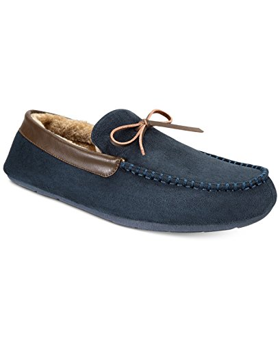 Club Kamer Heren Memory Foam Bomber Slippers ~ Indoor / Outdoor Zolen ~ Marine ~ Maat Large (9.5-10.5)