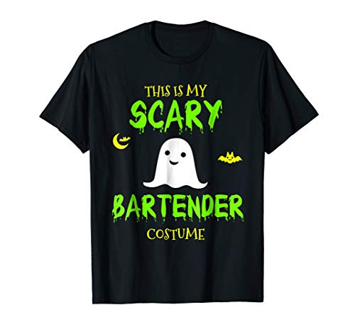 This Is My Scary Bartender Costume Halloween T-Shirt for $<!--$18.91-->