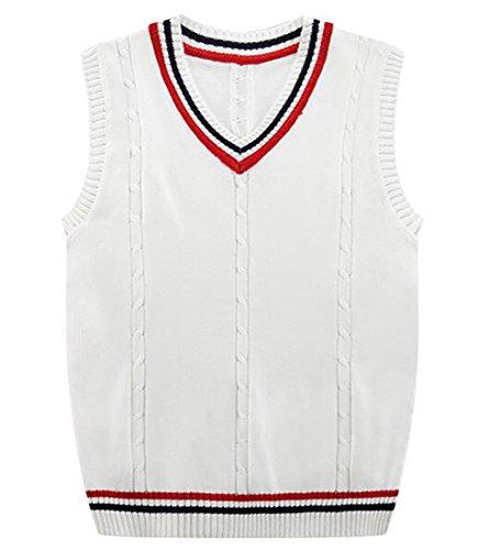 White Argyle Sweater Vest - 8