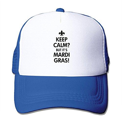 Mardi Gras Baseball (Keep Calm Mardi Gras Baseball Dad Hat)