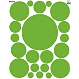 Fun Dot Decals ~Circle Wall Stickers Watermelon Green Vinyl Round Appliques' Special Price