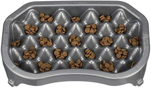 NEATER PET BRANDS - Neater Slow Feeder & Accessories - Gentle Slow Feeding Bowl for Dogs and Cats - Gunmetal Color - Non Skid Feet (Neater Slow Feeder, Gunmetal)