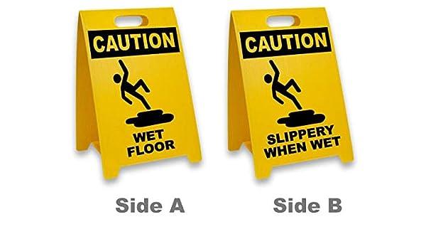 Señal de tráfico - Señal de suelo mojado/resbaladizo cuando ...