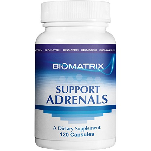 BioMatrix Support Adrenals - Supplement for Adrenal Health, Fatigue, Stress. 5-MTHF, B Vitamins, Vitamin C, Adaptogens,Homeopathic DHEA and Pregnenolone, Hormone Balance - 120 Count Vegetarian Caps Homeopathic Support