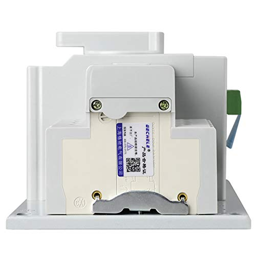guangshun Home Solar Dual Power Automatic Transfer Switch 2P 63A 110V Toggle Switch Double Power Automatic Change-Over Switch (110V AC)