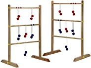 Hathaway Solid Wood Ladder Toss Game Set Brown