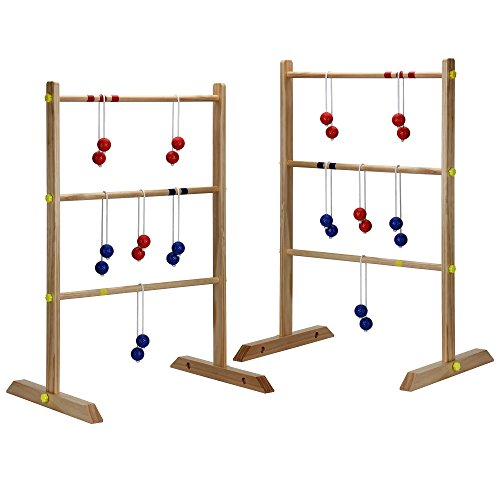 Hathaway Solid Wood Ladder Toss Game Set Brown (Wood Ships Ladder)