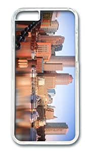 MOKSHOP Adorable boston skyline Hard Case Protective Shell Cell Phone Cover For Apple Iphone 6 (4.7 Inch) - PC Transparent