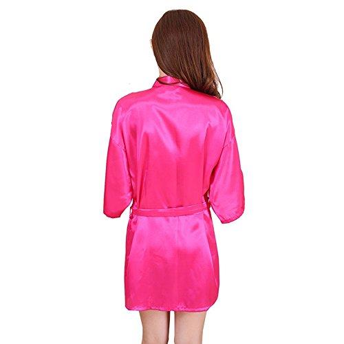 Bathrobe Accappatoio Babydoll Spa Nozze Donne Rose Kimono Gown Adolescenti Partito Da Regalo Camicie Robe Pigiami FY Breve Vestaglie Sexy Dressing Notte Nuziale 8wCUZ