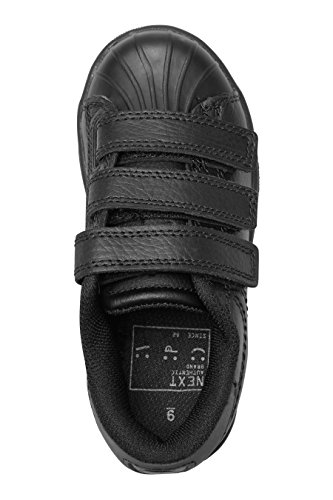 next Para Niños Zapatillas Deportivas Con Tres Tiras De Velcro (Niño Mayor) Negro