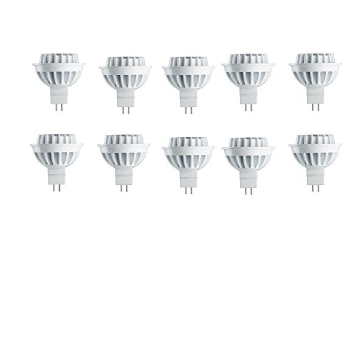 Piece Led 10 Mr16 - Philips LED 461590 35 Watt Equivalent MR16 Bright White Dimmable Energy Star Certified LED Flood Light Bulb, 10 Pack, Piece