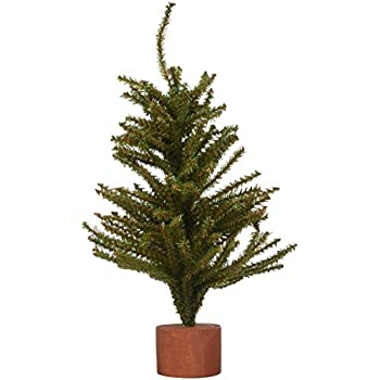 Mixed Pine Tree with Wood Base - 144 Tips - 15 inches (1 pack)