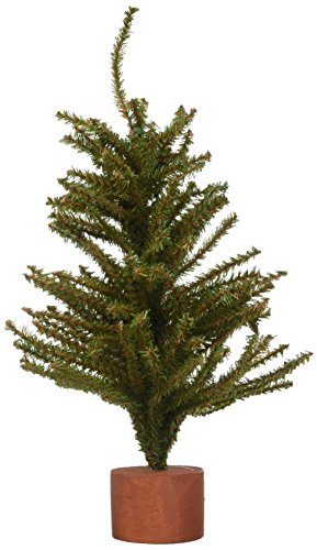 (Darice Mini Mixed Pine Tree with Wood Base (1pc), Green - Spread Holiday Décor Around Your Home - Artificial Tree Has 144 Tips and Works Great with Mini Ornaments and Lights, 15