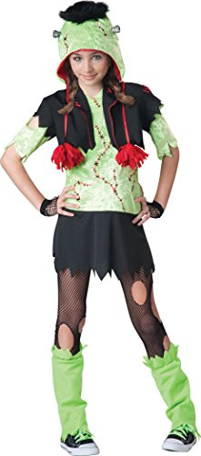 (InCharacter Costumes Big Girl's Monster Gurl, Green/Black,)
