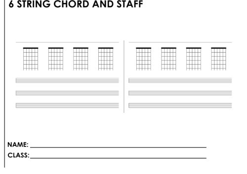 Download 6 String Chord And Staff: A Student Manuscript Notebook From Fusello Publishing ebook