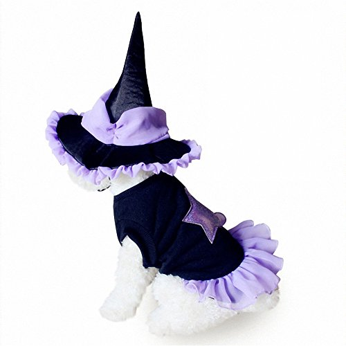 OMEM Christmas Pet Costumes, Cute Magician Pet Skirt, Christmas Holiday Festive Pet Coat for Dog and Cat (S-Small) ()