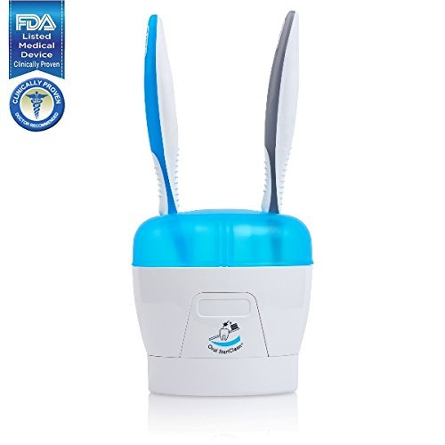 Portable DUO UV Toothbrush Holder and Sanitizer - Clinically...