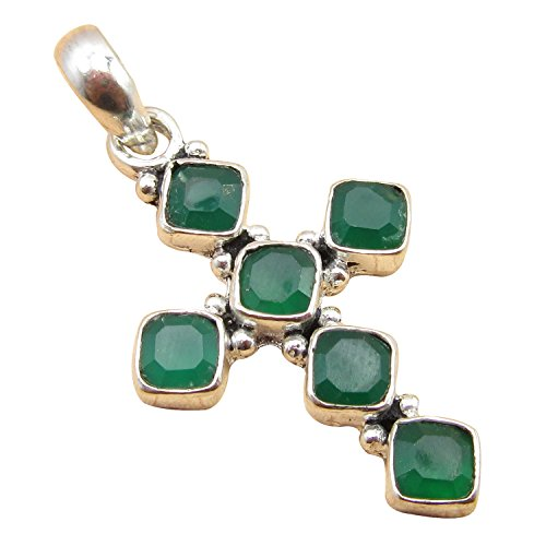 23 Color CROSS Pendant ! Antique Style Handwork Jewelry ! 925 Sterling Silver Plated Birthday Gift