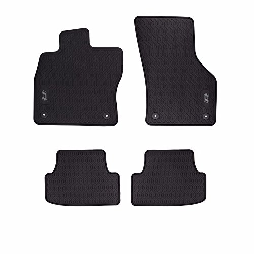 (2015-2018 VW Volkswagen Golf R Monster Rubber All Weather Front Rear Floor Mats)