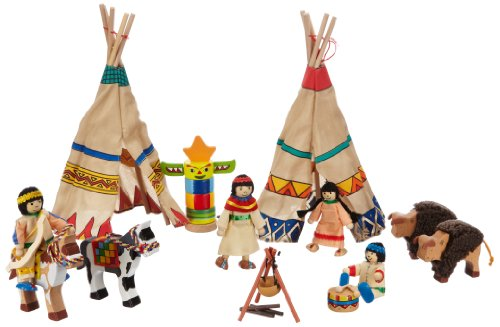 Goki Flexible Puppets Indian Camp Doll