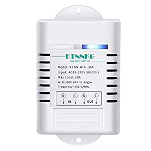 KTNNKG 30amps Smart Pump Switch, Water Heater Timer,Wi-Fi+Remote Control,Compatible with iOS and Android, Compatible…