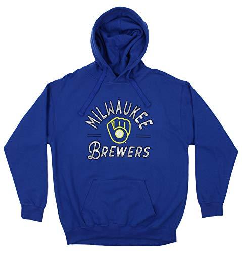 - Zubaz MLB Men's Arched Logo Fleece Pullover Hoodie, Milwaukee Brewers, Medium
