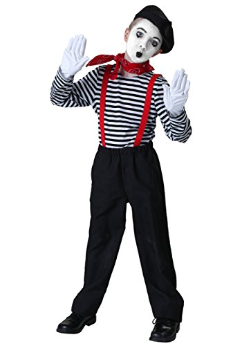 Child Mime Costume Large -