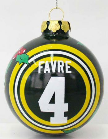 Sports Collectors Glass Ornament - Brett Favre #4 Green Bay Packers rare Collectors Edition Glass painted Christmas tree ornament