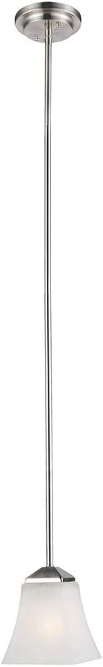 Design House 514851 Torino 1 Light Mini Pendant, Satin Nickel