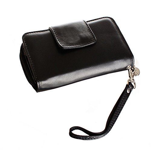 Limited Edition Leather Wristlet (Obsidian Black)