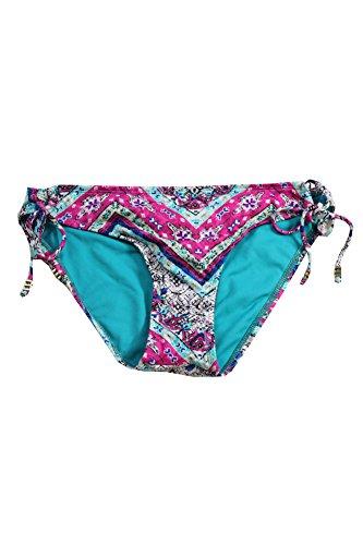 Bar III Women's Solid Side-Tie Adjustable Hipster Bikini Bottom (Medium, Multi)