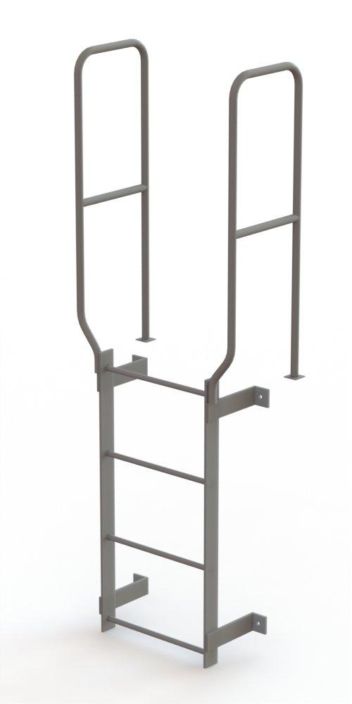 Tri-Arc WLFS0204 4-Rung Walk-Thru Uncaged Fixed Steel Ladder