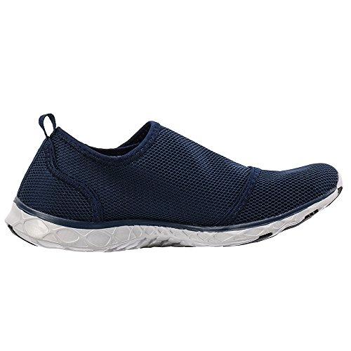ALEADER Herren Mesh Slip On Water Schuhe 201755 Marine / Grau